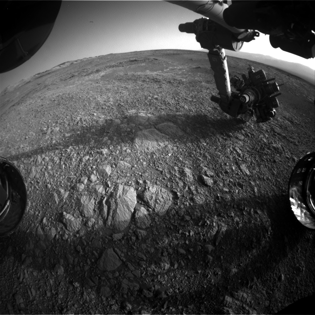 Nasa's Mars rover Curiosity acquired this image using its Front Hazard Avoidance Camera (Front Hazcam) on Sol 1879, at drive 0, site number 67