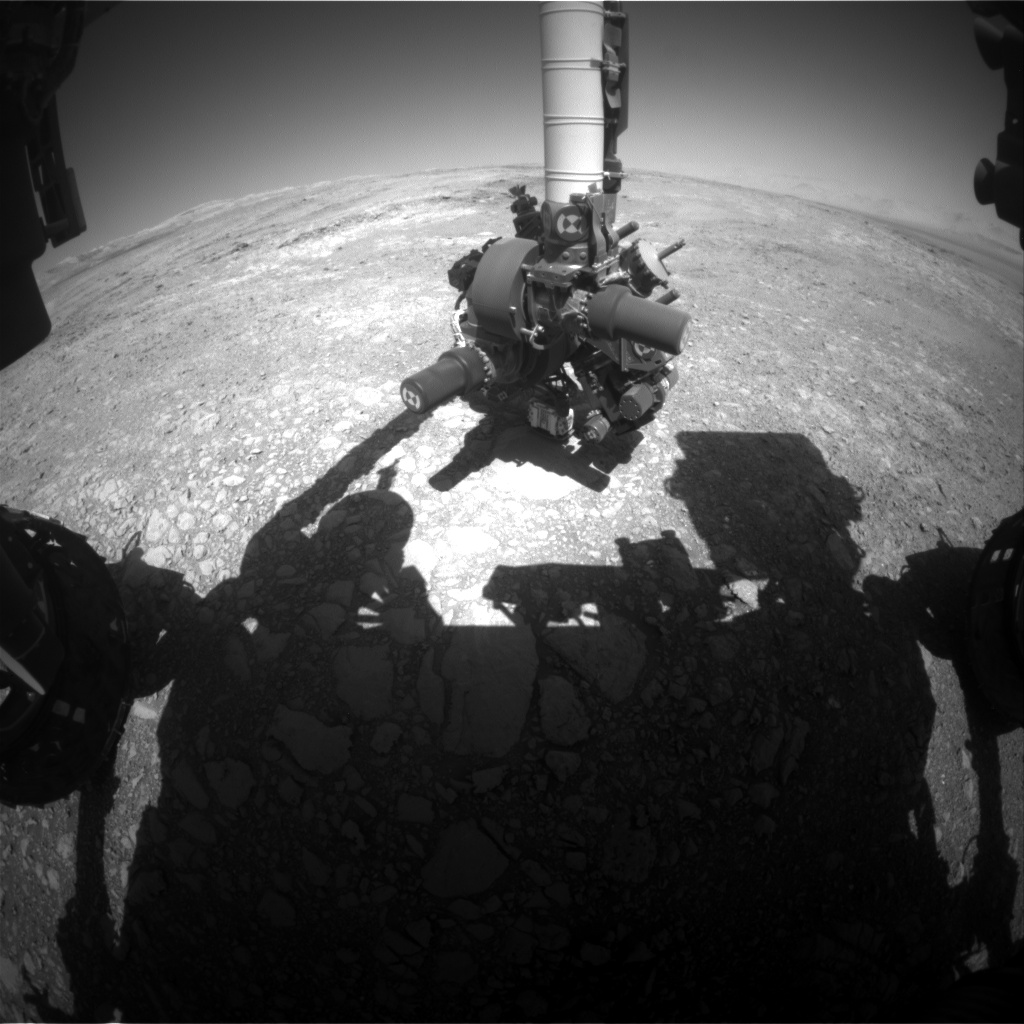 Nasa's Mars rover Curiosity acquired this image using its Front Hazard Avoidance Camera (Front Hazcam) on Sol 1880, at drive 0, site number 67