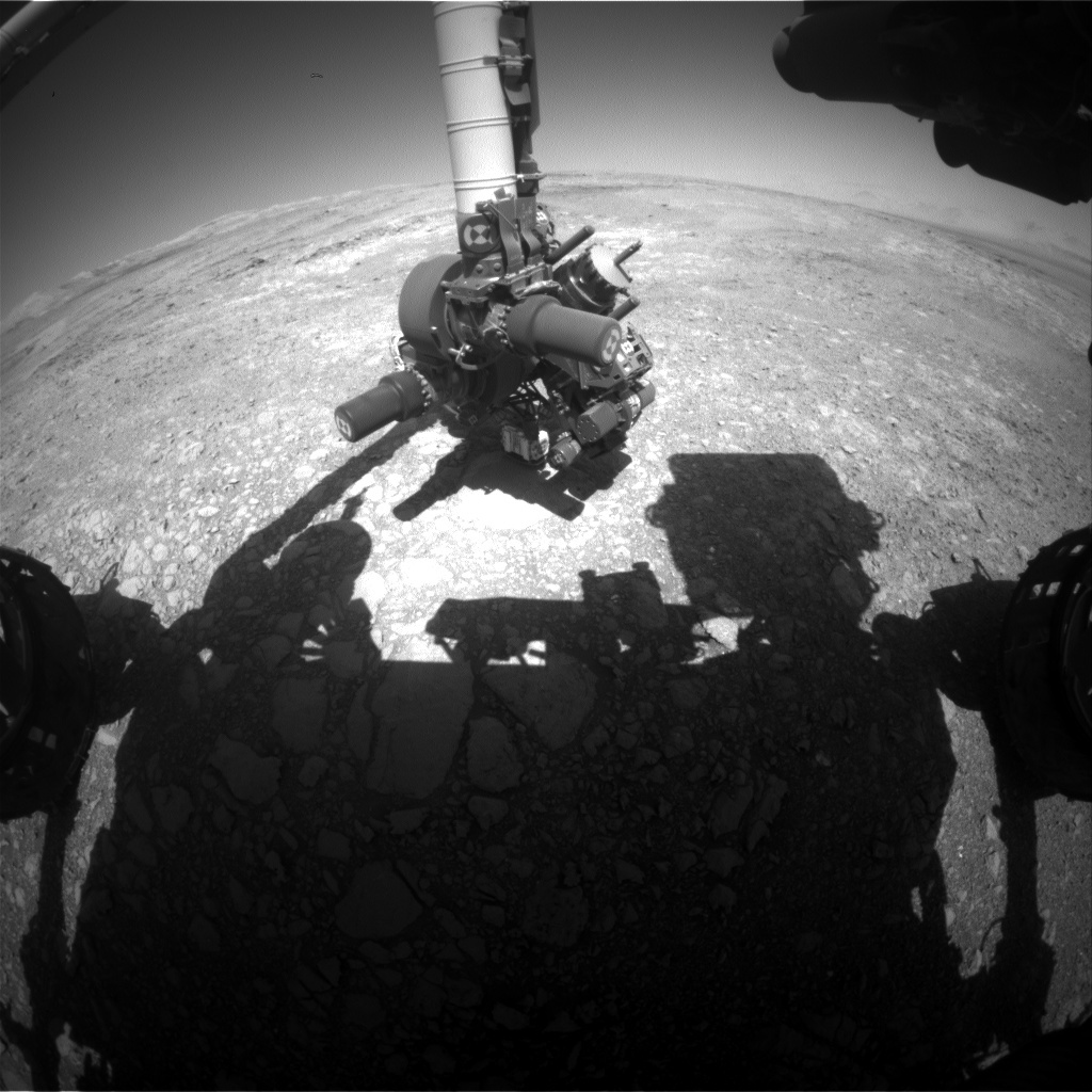 NASA's Mars rover Curiosity acquired this image using its Front Hazard Avoidance Cameras (Front Hazcams) on Sol 1880