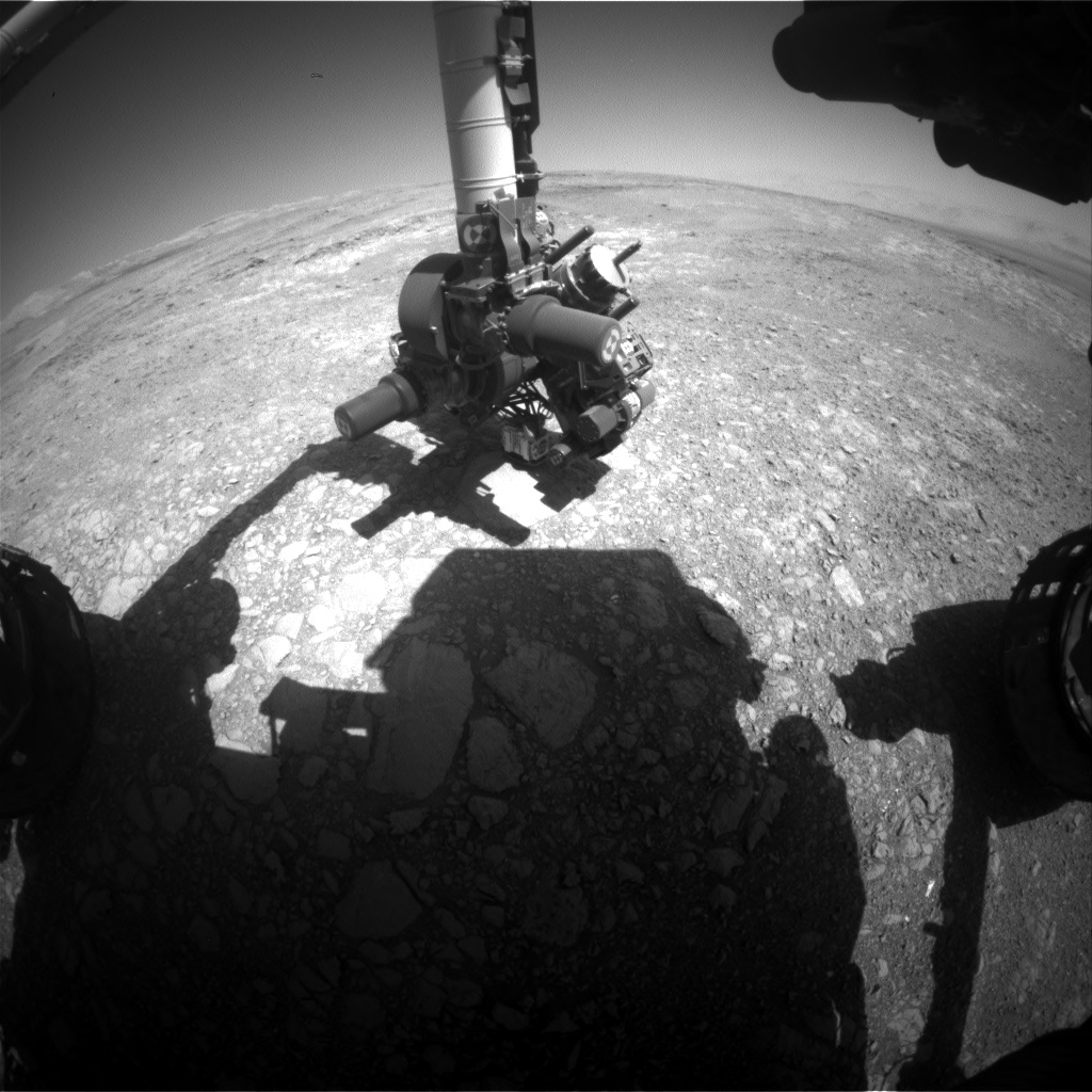 Nasa's Mars rover Curiosity acquired this image using its Front Hazard Avoidance Camera (Front Hazcam) on Sol 1881, at drive 0, site number 67
