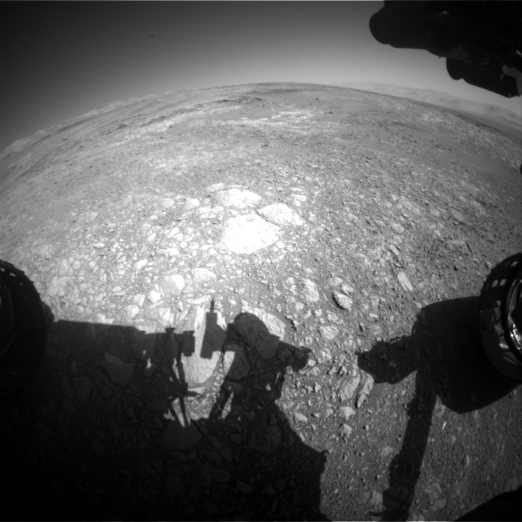 Nasa's Mars rover Curiosity acquired this image using its Front Hazard Avoidance Camera (Front Hazcam) on Sol 1882, at drive 0, site number 67