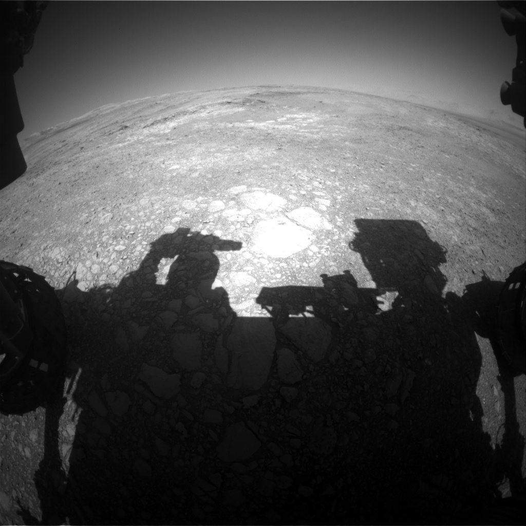Nasa's Mars rover Curiosity acquired this image using its Front Hazard Avoidance Camera (Front Hazcam) on Sol 1883, at drive 0, site number 67