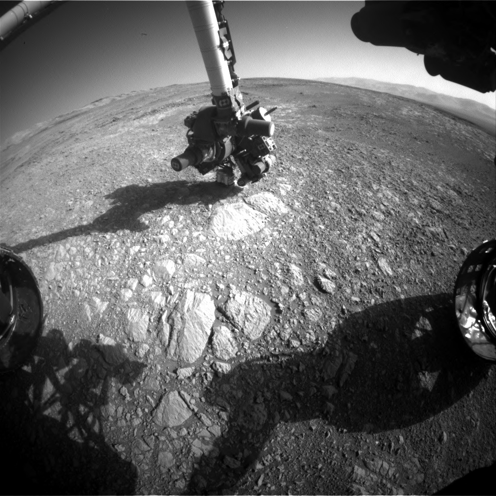 Nasa's Mars rover Curiosity acquired this image using its Front Hazard Avoidance Camera (Front Hazcam) on Sol 1885, at drive 0, site number 67