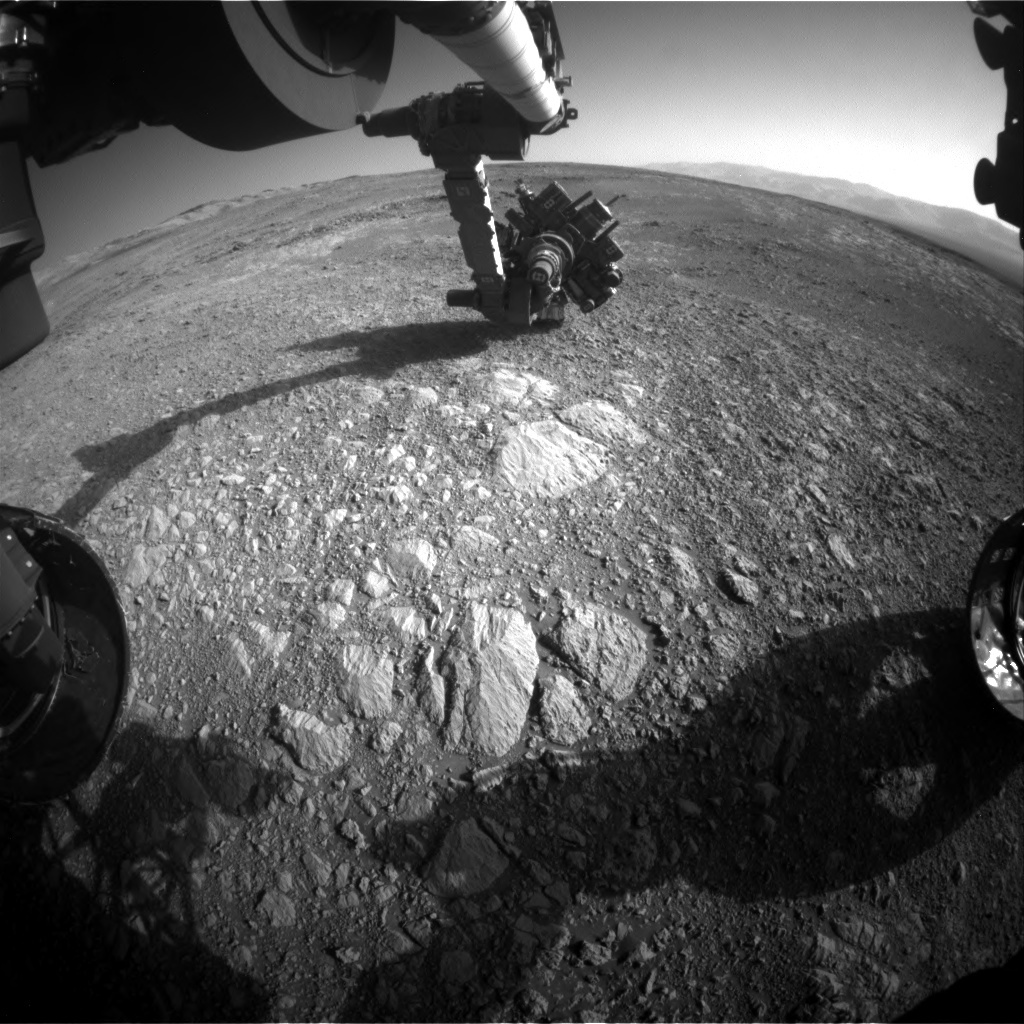 NASA's Mars rover Curiosity acquired this image using its Front Hazard Avoidance Cameras (Front Hazcams) on Sol 1886