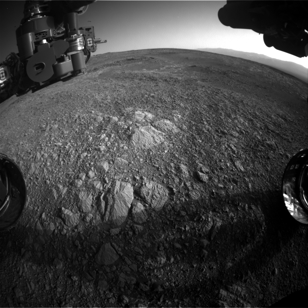 Nasa's Mars rover Curiosity acquired this image using its Front Hazard Avoidance Camera (Front Hazcam) on Sol 1886, at drive 0, site number 67