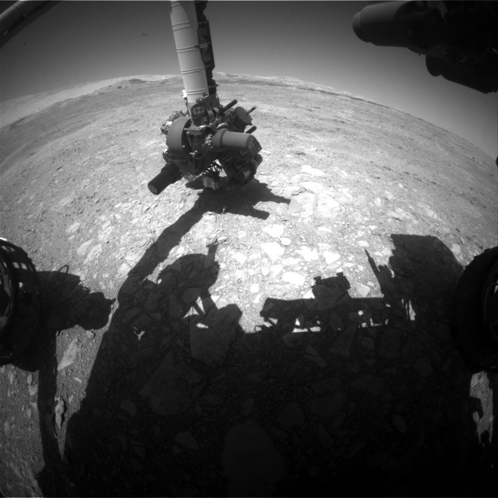 Nasa's Mars rover Curiosity acquired this image using its Front Hazard Avoidance Camera (Front Hazcam) on Sol 1889, at drive 216, site number 67