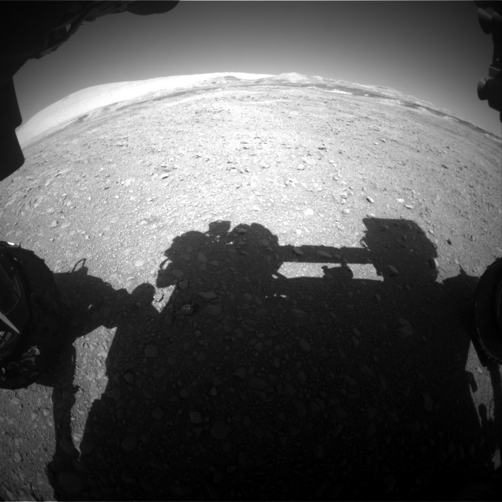 NASA's Mars rover Curiosity acquired this image using its Front Hazard Avoidance Cameras (Front Hazcams) on Sol 1890