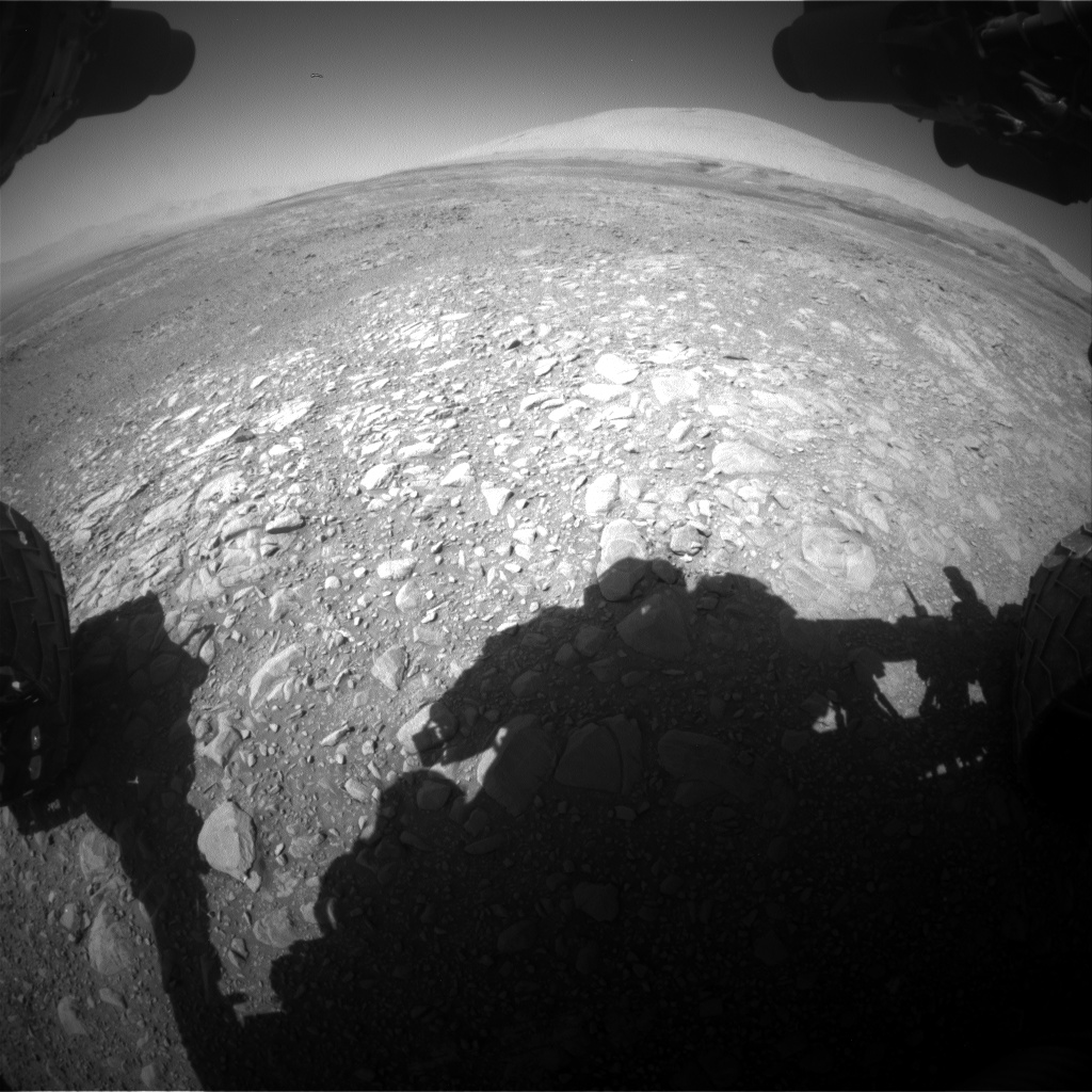 Nasa's Mars rover Curiosity acquired this image using its Front Hazard Avoidance Camera (Front Hazcam) on Sol 1891, at drive 604, site number 67