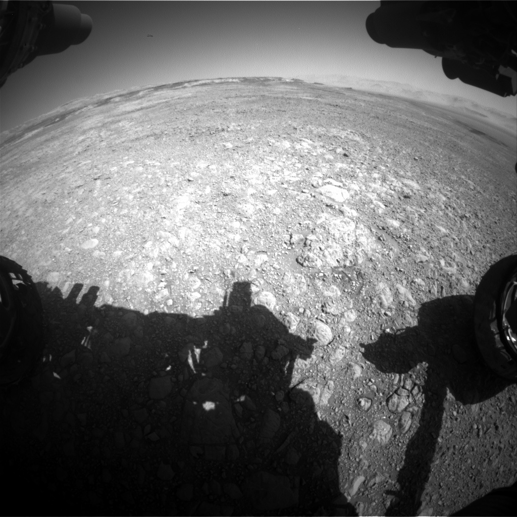 NASA's Mars rover Curiosity acquired this image using its Front Hazard Avoidance Cameras (Front Hazcams) on Sol 1891
