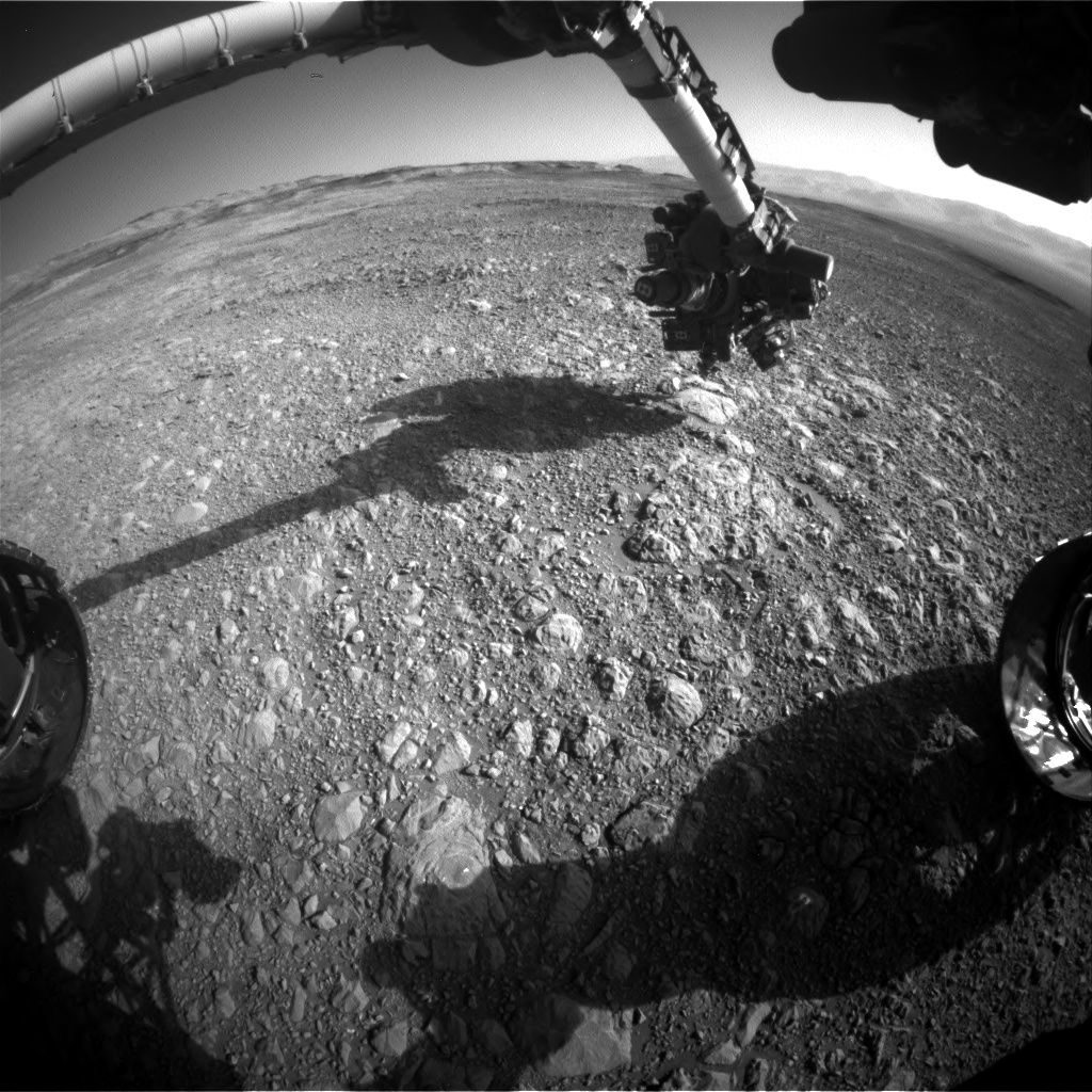 Nasa's Mars rover Curiosity acquired this image using its Front Hazard Avoidance Camera (Front Hazcam) on Sol 1892, at drive 650, site number 67