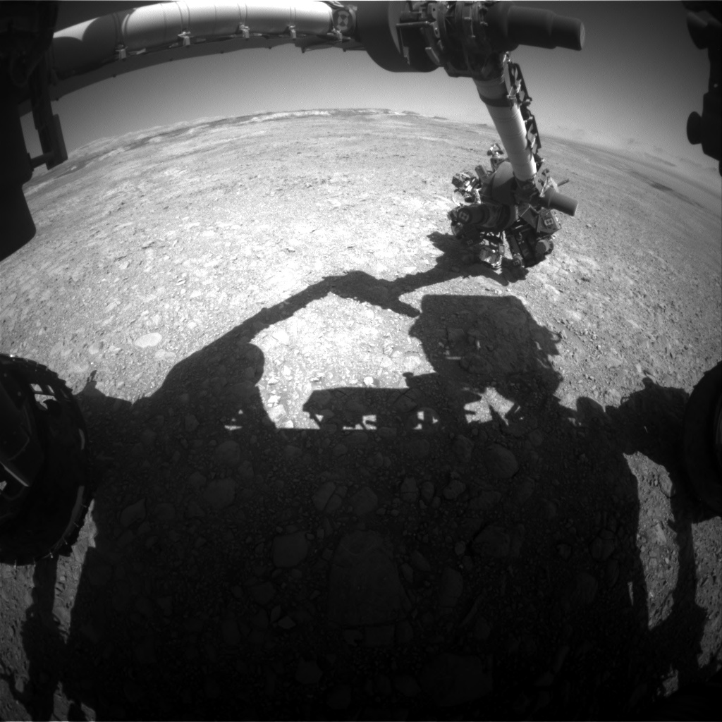 Nasa's Mars rover Curiosity acquired this image using its Front Hazard Avoidance Camera (Front Hazcam) on Sol 1893, at drive 650, site number 67