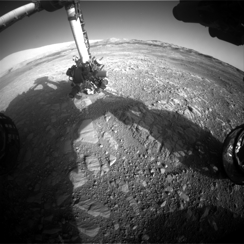 Nasa's Mars rover Curiosity acquired this image using its Front Hazard Avoidance Camera (Front Hazcam) on Sol 1895, at drive 806, site number 67