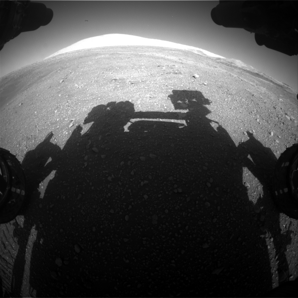 NASA's Mars rover Curiosity acquired this image using its Front Hazard Avoidance Cameras (Front Hazcams) on Sol 1900