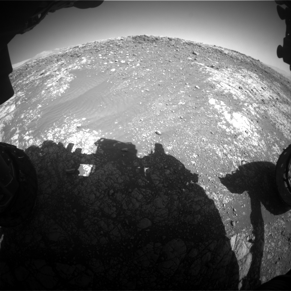 Nasa's Mars rover Curiosity acquired this image using its Front Hazard Avoidance Camera (Front Hazcam) on Sol 1901, at drive 1238, site number 67