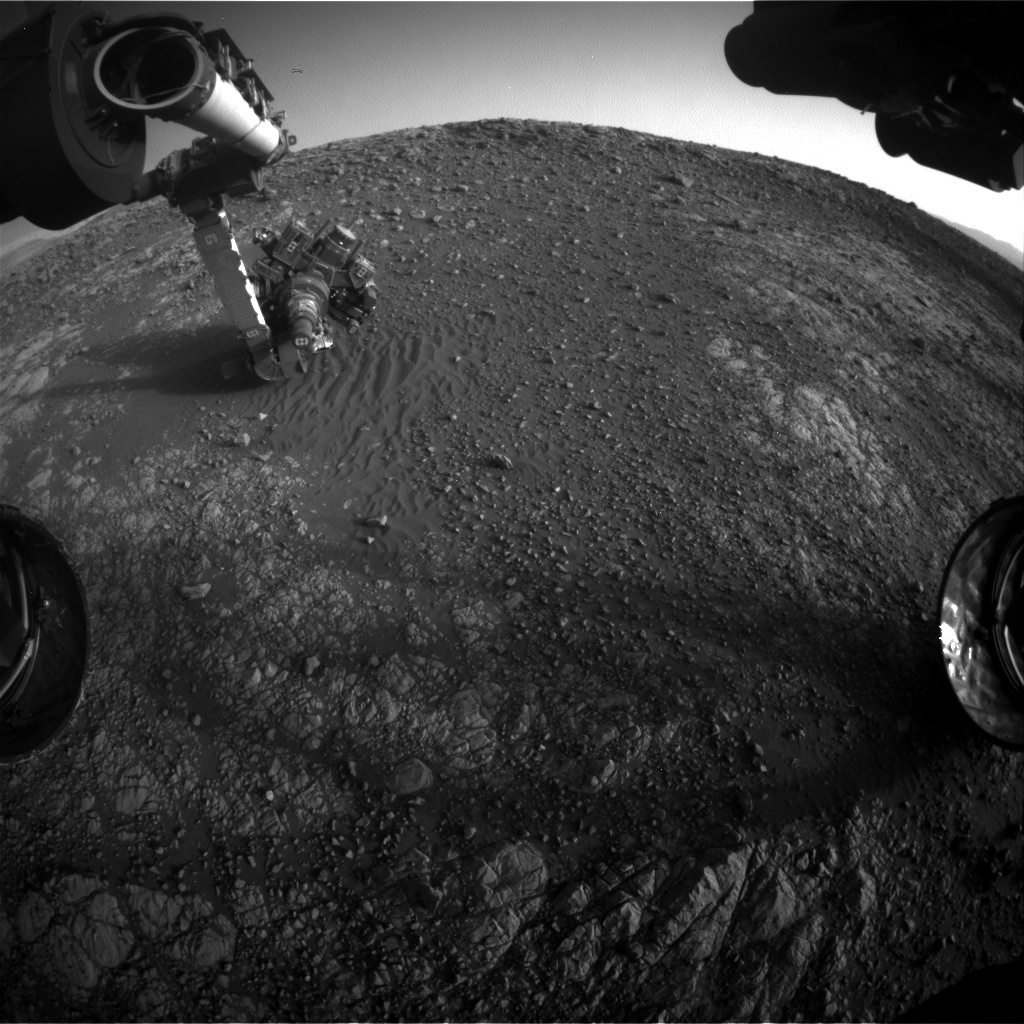 Nasa's Mars rover Curiosity acquired this image using its Front Hazard Avoidance Camera (Front Hazcam) on Sol 1902, at drive 1238, site number 67