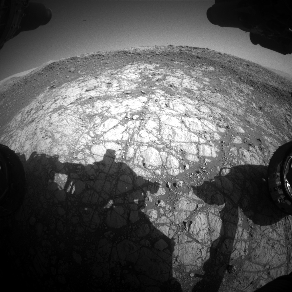 Nasa's Mars rover Curiosity acquired this image using its Front Hazard Avoidance Camera (Front Hazcam) on Sol 1903, at drive 1358, site number 67