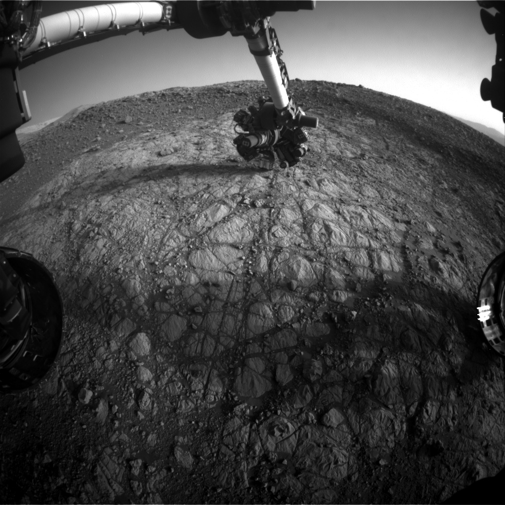 NASA's Mars rover Curiosity acquired this image using its Front Hazard Avoidance Cameras (Front Hazcams) on Sol 1904