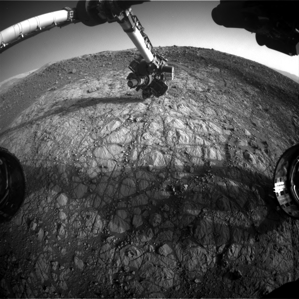 Nasa's Mars rover Curiosity acquired this image using its Front Hazard Avoidance Camera (Front Hazcam) on Sol 1904, at drive 1358, site number 67