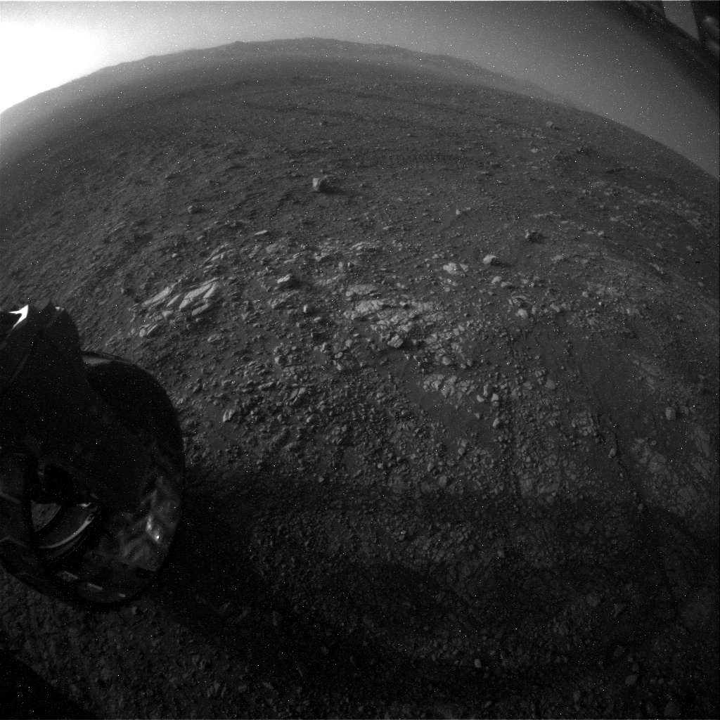 NASA's Mars rover Curiosity acquired this image using its Rear Hazard Avoidance Cameras (Rear Hazcams) on Sol 1904