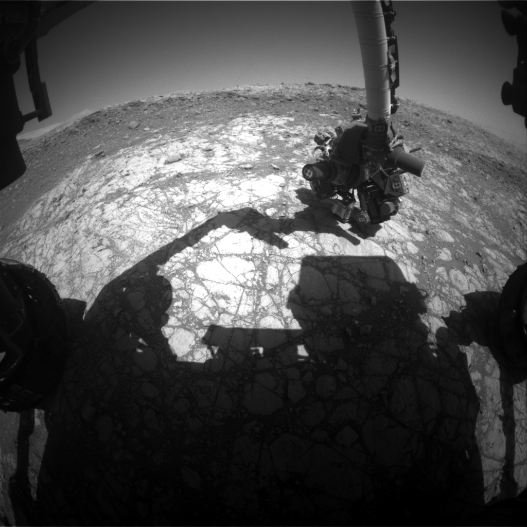 Nasa's Mars rover Curiosity acquired this image using its Front Hazard Avoidance Camera (Front Hazcam) on Sol 1905, at drive 1358, site number 67