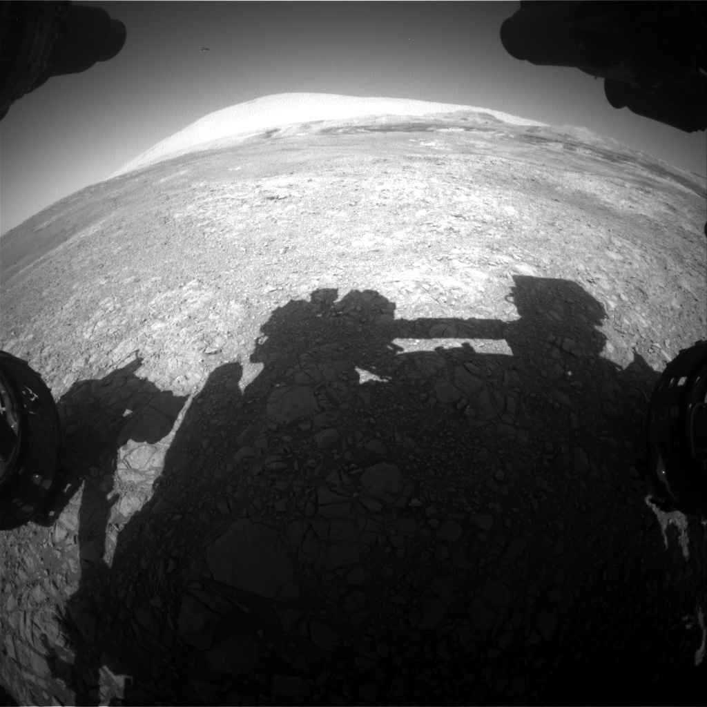 Nasa's Mars rover Curiosity acquired this image using its Front Hazard Avoidance Camera (Front Hazcam) on Sol 1905, at drive 1494, site number 67