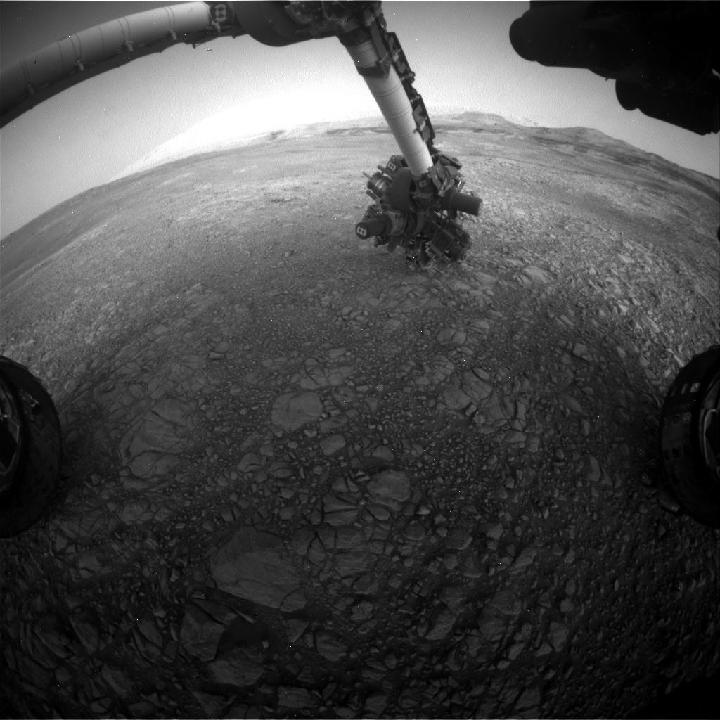 Nasa's Mars rover Curiosity acquired this image using its Front Hazard Avoidance Camera (Front Hazcam) on Sol 1906, at drive 1494, site number 67