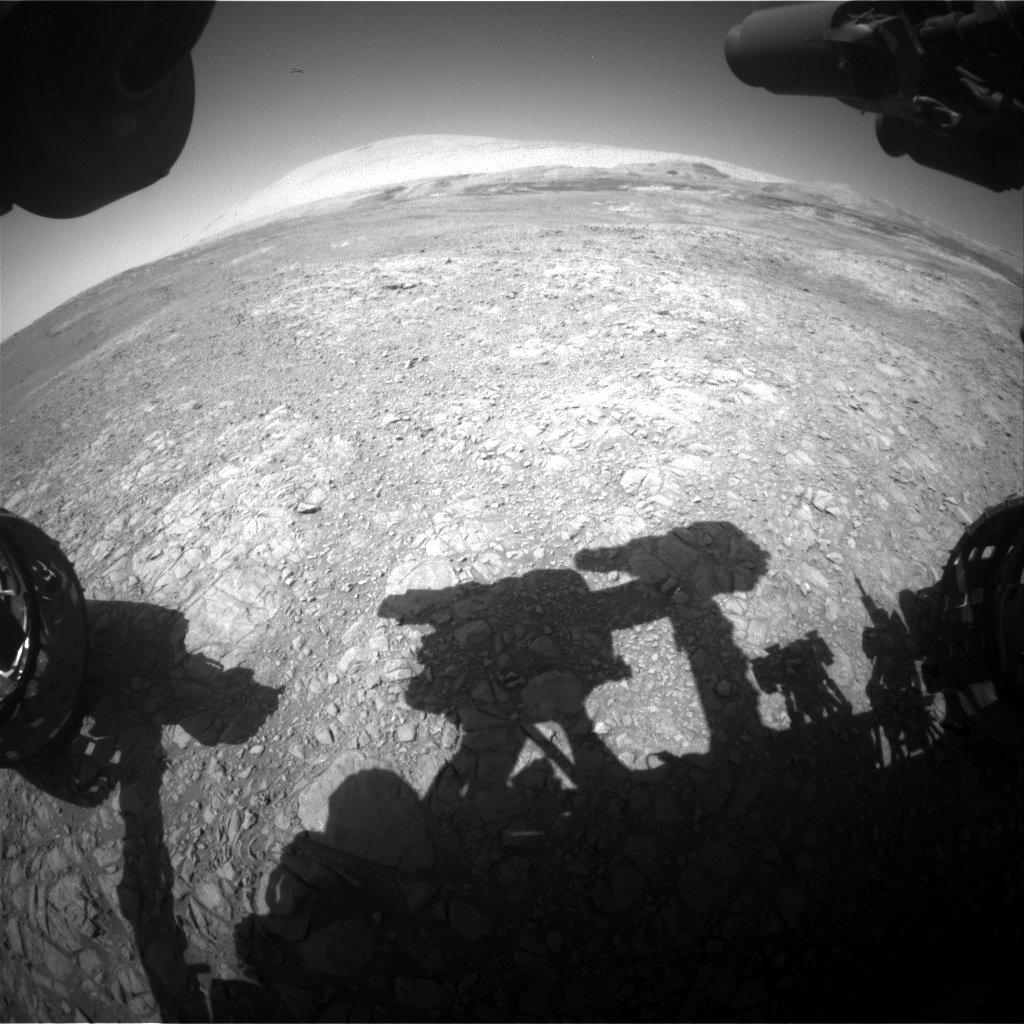 Nasa's Mars rover Curiosity acquired this image using its Front Hazard Avoidance Camera (Front Hazcam) on Sol 1908, at drive 1494, site number 67