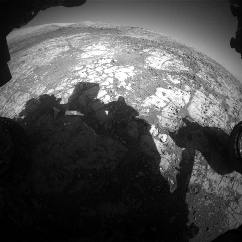 Nasa's Mars rover Curiosity acquired this image using its Front Hazard Avoidance Camera (Front Hazcam) on Sol 1910, at drive 1714, site number 67
