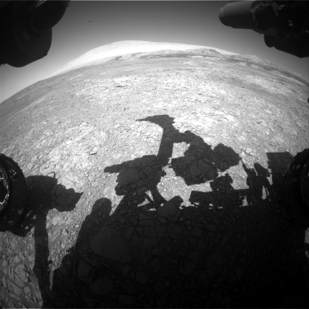 Nasa's Mars rover Curiosity acquired this image using its Front Hazard Avoidance Camera (Front Hazcam) on Sol 1910, at drive 1494, site number 67