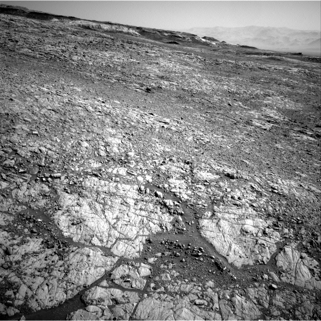 NASA's Mars rover Curiosity acquired this image using its Right Navigation Cameras (Navcams) on Sol 1910