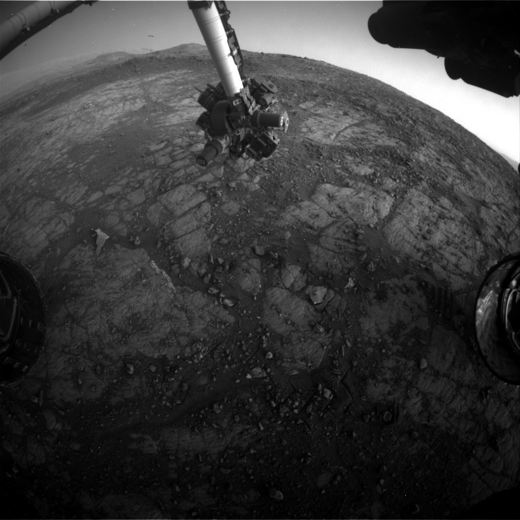 Nasa's Mars rover Curiosity acquired this image using its Front Hazard Avoidance Camera (Front Hazcam) on Sol 1911, at drive 1714, site number 67