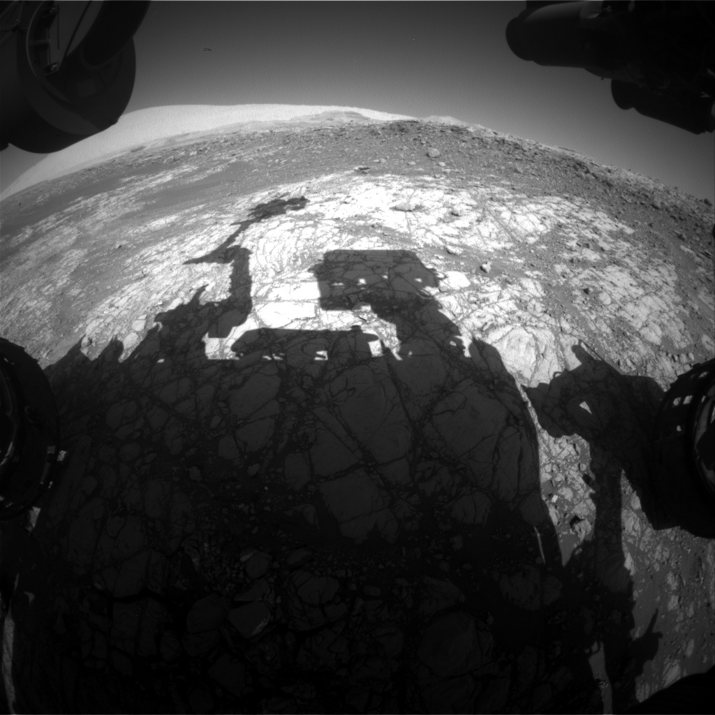 Nasa's Mars rover Curiosity acquired this image using its Front Hazard Avoidance Camera (Front Hazcam) on Sol 1914, at drive 1762, site number 67