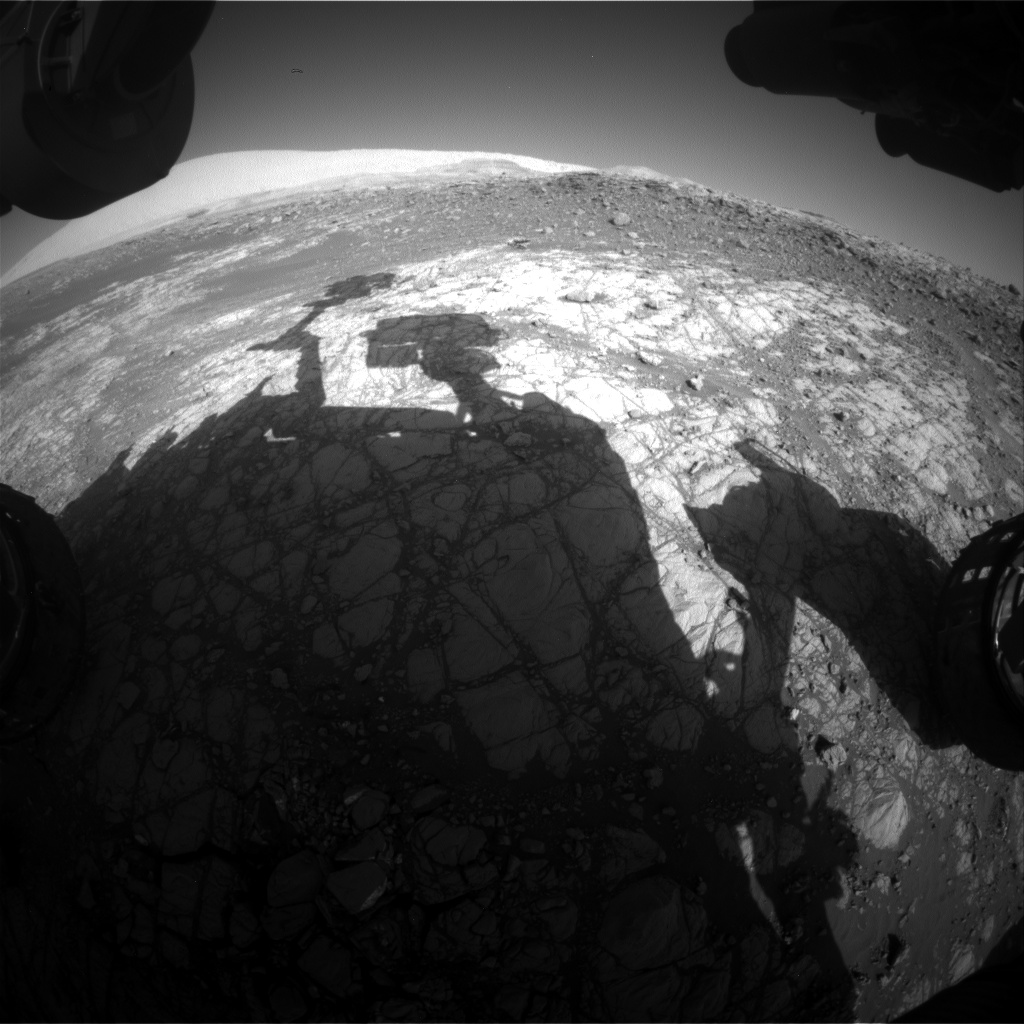 Nasa's Mars rover Curiosity acquired this image using its Front Hazard Avoidance Camera (Front Hazcam) on Sol 1915, at drive 1762, site number 67