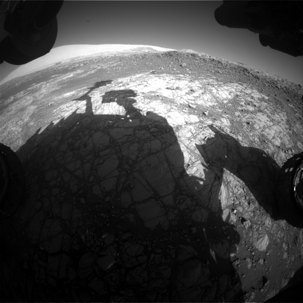 Nasa's Mars rover Curiosity acquired this image using its Front Hazard Avoidance Camera (Front Hazcam) on Sol 1916, at drive 1762, site number 67