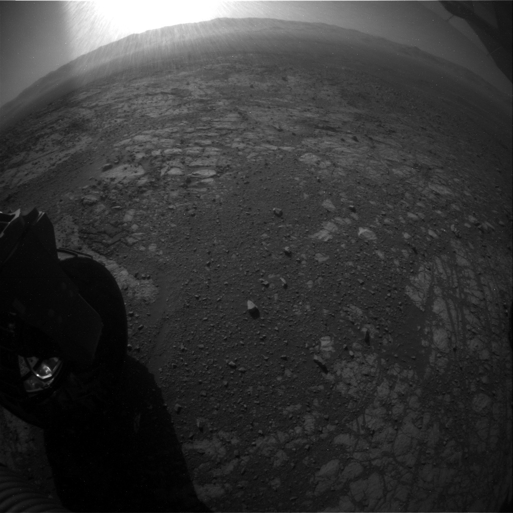 NASA's Mars rover Curiosity acquired this image using its Rear Hazard Avoidance Cameras (Rear Hazcams) on Sol 1916
