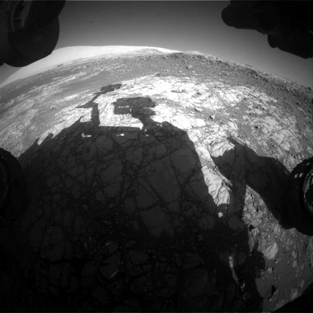 Nasa's Mars rover Curiosity acquired this image using its Front Hazard Avoidance Camera (Front Hazcam) on Sol 1917, at drive 1762, site number 67