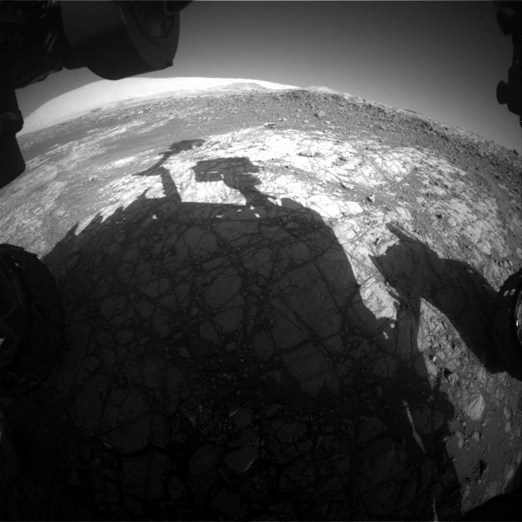 NASA's Mars rover Curiosity acquired this image using its Front Hazard Avoidance Cameras (Front Hazcams) on Sol 1918