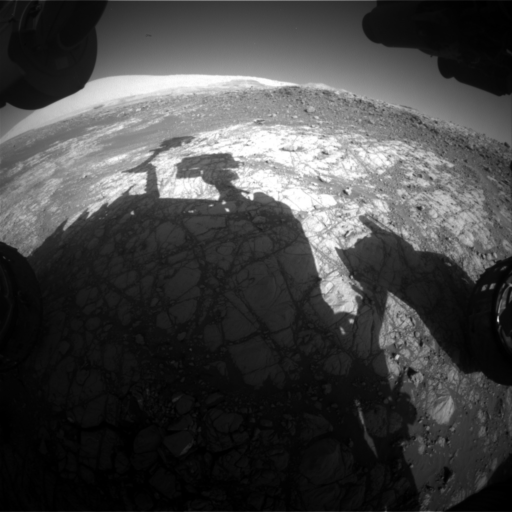 Nasa's Mars rover Curiosity acquired this image using its Front Hazard Avoidance Camera (Front Hazcam) on Sol 1918, at drive 1762, site number 67