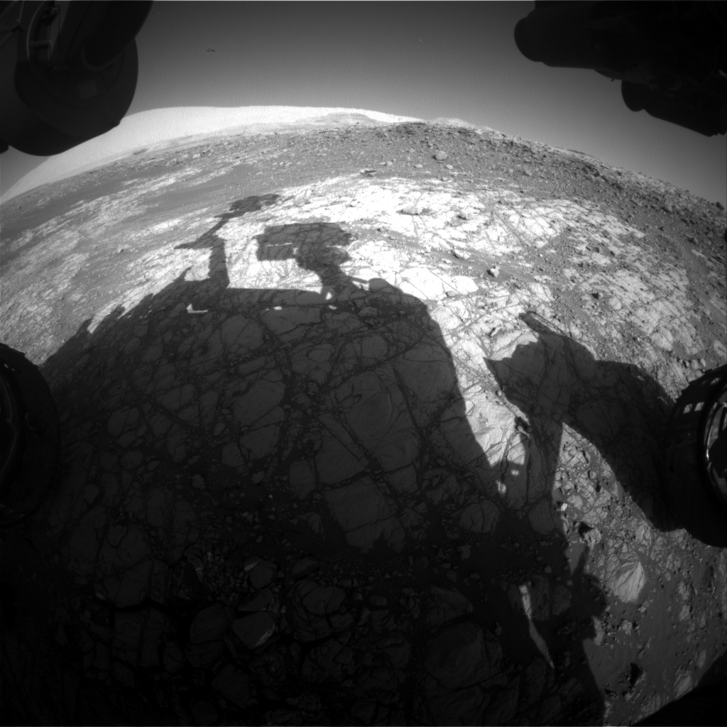 Nasa's Mars rover Curiosity acquired this image using its Front Hazard Avoidance Camera (Front Hazcam) on Sol 1919, at drive 1762, site number 67