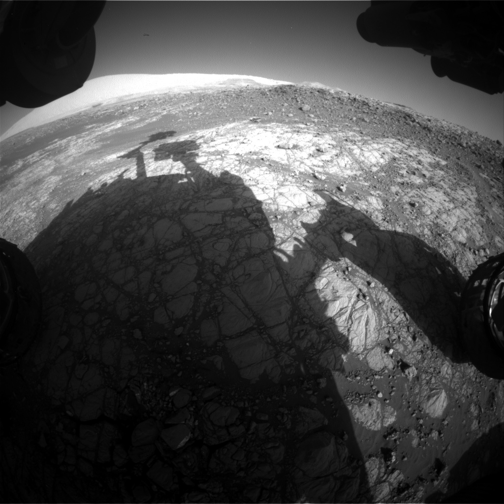 Nasa's Mars rover Curiosity acquired this image using its Front Hazard Avoidance Camera (Front Hazcam) on Sol 1920, at drive 1762, site number 67