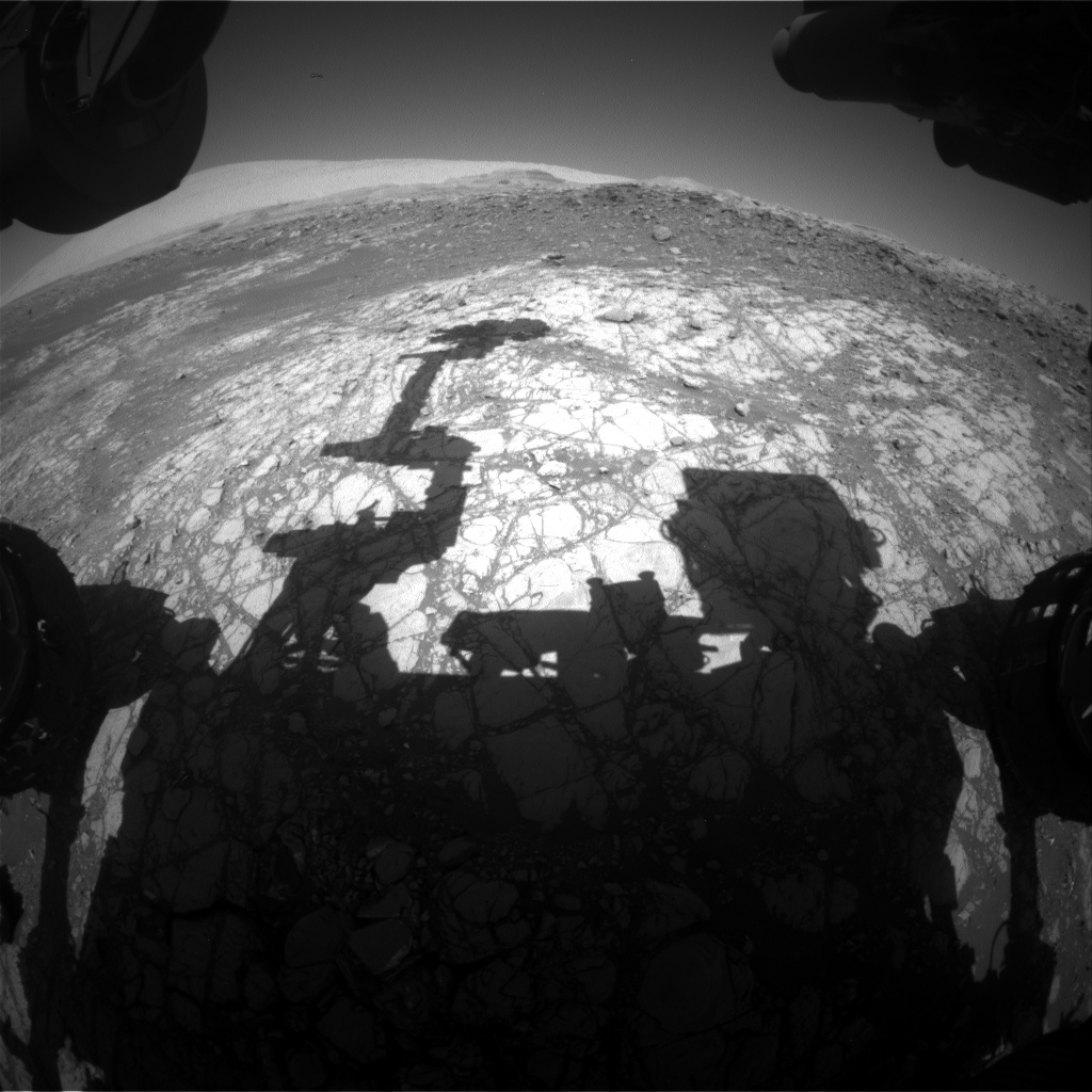 NASA's Mars rover Curiosity acquired this image using its Front Hazard Avoidance Cameras (Front Hazcams) on Sol 1921
