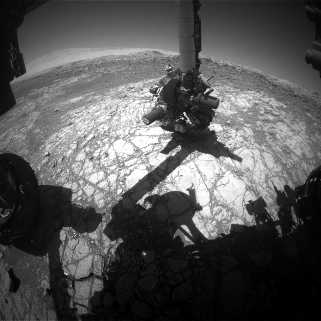 NASA's Mars rover Curiosity acquired this image using its Front Hazard Avoidance Cameras (Front Hazcams) on Sol 1922