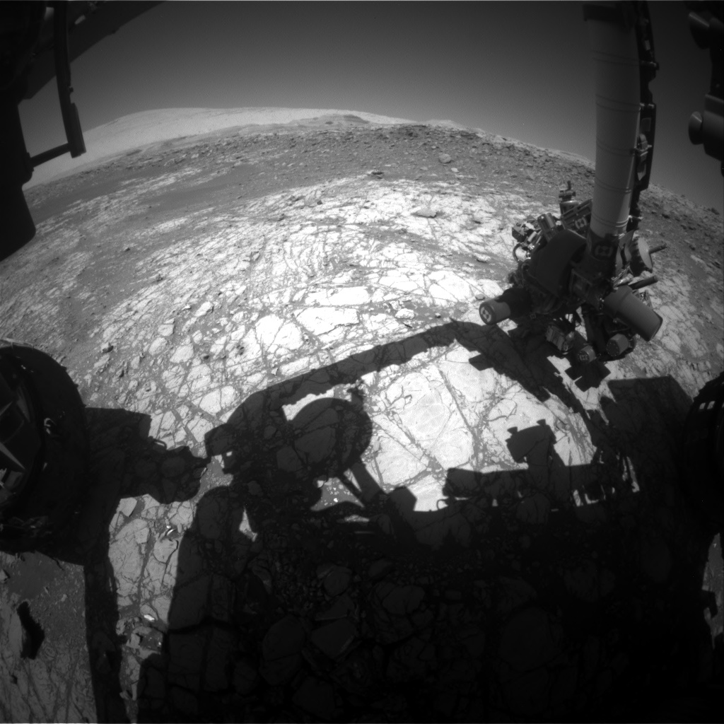 Nasa's Mars rover Curiosity acquired this image using its Front Hazard Avoidance Camera (Front Hazcam) on Sol 1923, at drive 1762, site number 67