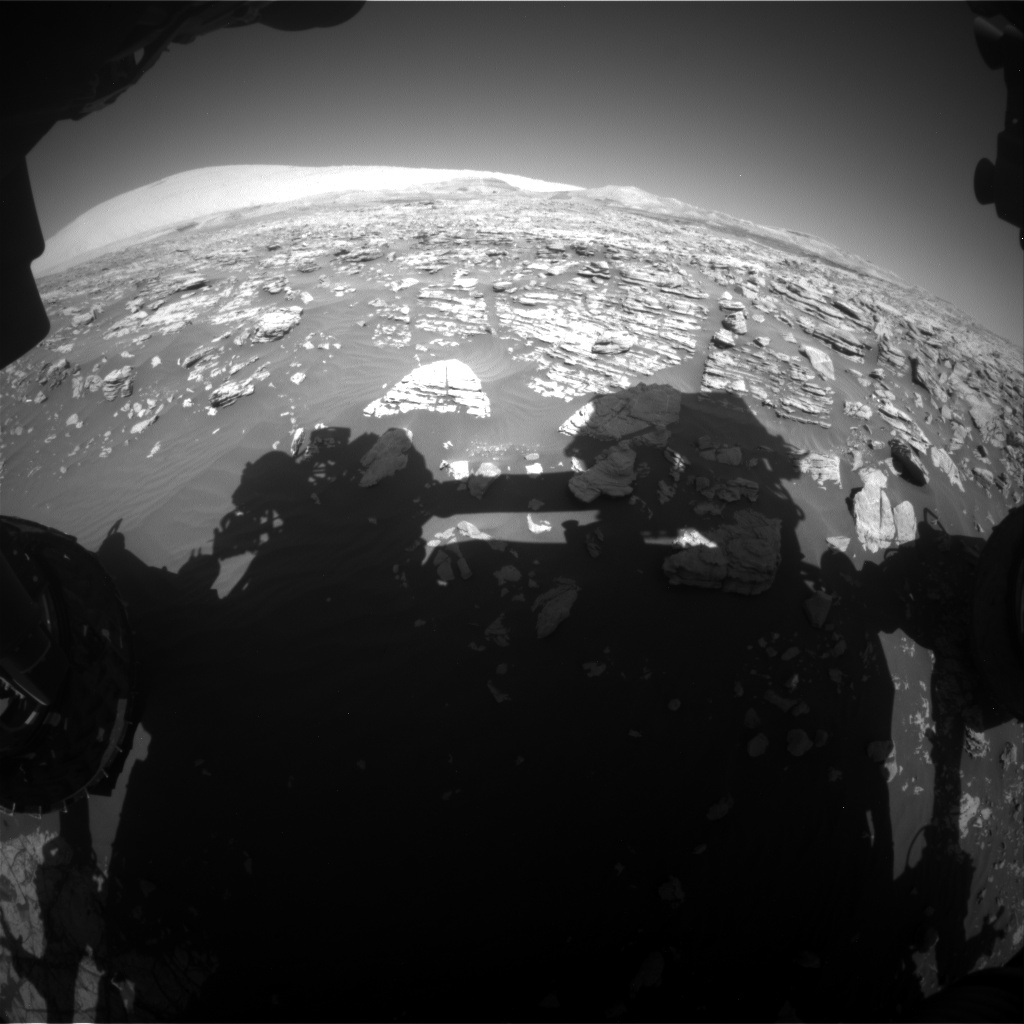 Nasa's Mars rover Curiosity acquired this image using its Front Hazard Avoidance Camera (Front Hazcam) on Sol 1923, at drive 1846, site number 67