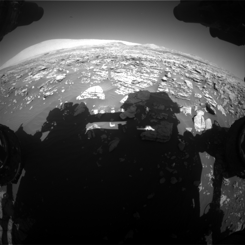 NASA's Mars rover Curiosity acquired this image using its Front Hazard Avoidance Cameras (Front Hazcams) on Sol 1923