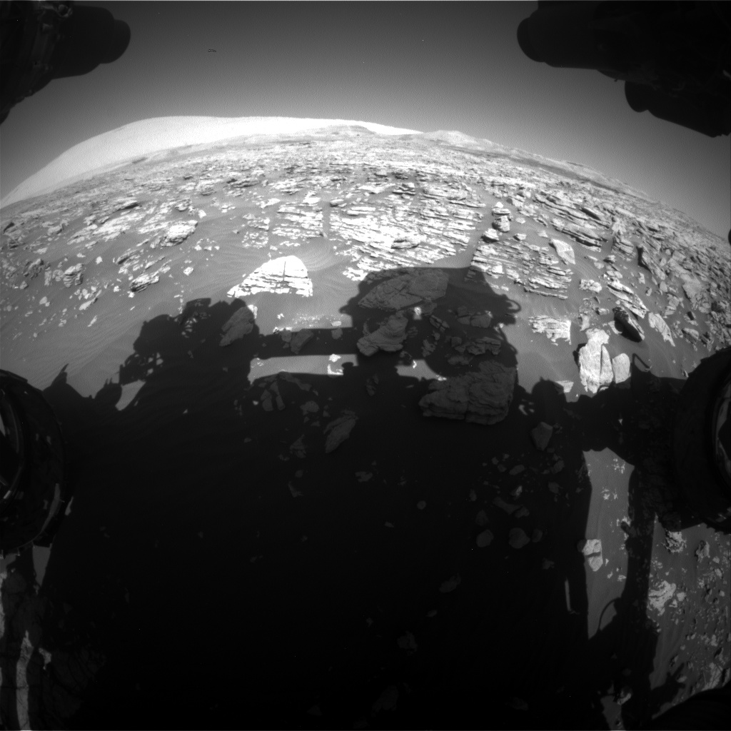 Nasa's Mars rover Curiosity acquired this image using its Front Hazard Avoidance Camera (Front Hazcam) on Sol 1924, at drive 1846, site number 67