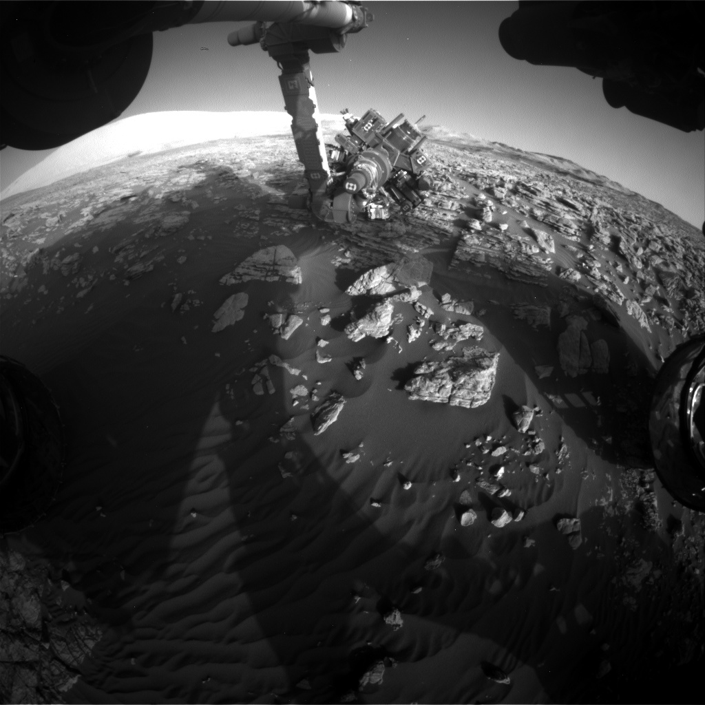 Nasa's Mars rover Curiosity acquired this image using its Front Hazard Avoidance Camera (Front Hazcam) on Sol 1925, at drive 1846, site number 67