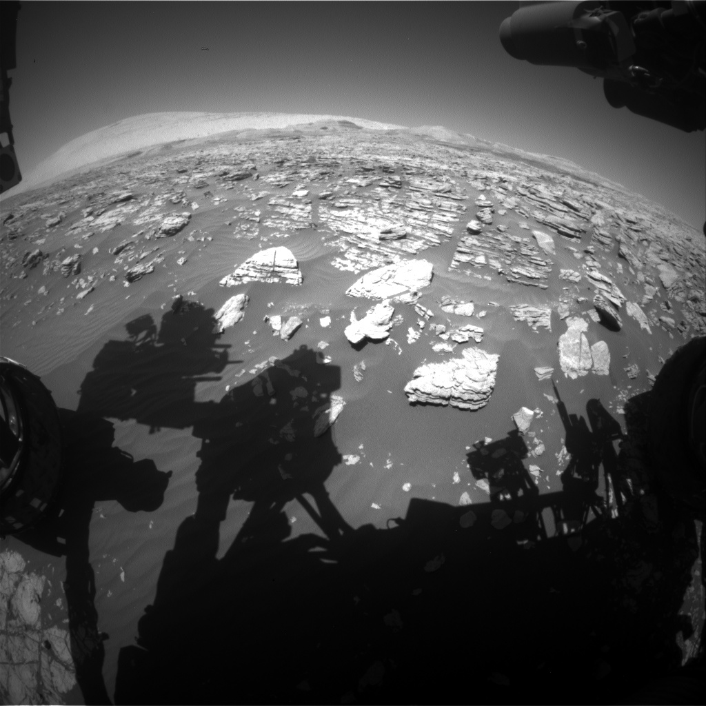 Nasa's Mars rover Curiosity acquired this image using its Front Hazard Avoidance Camera (Front Hazcam) on Sol 1926, at drive 1846, site number 67