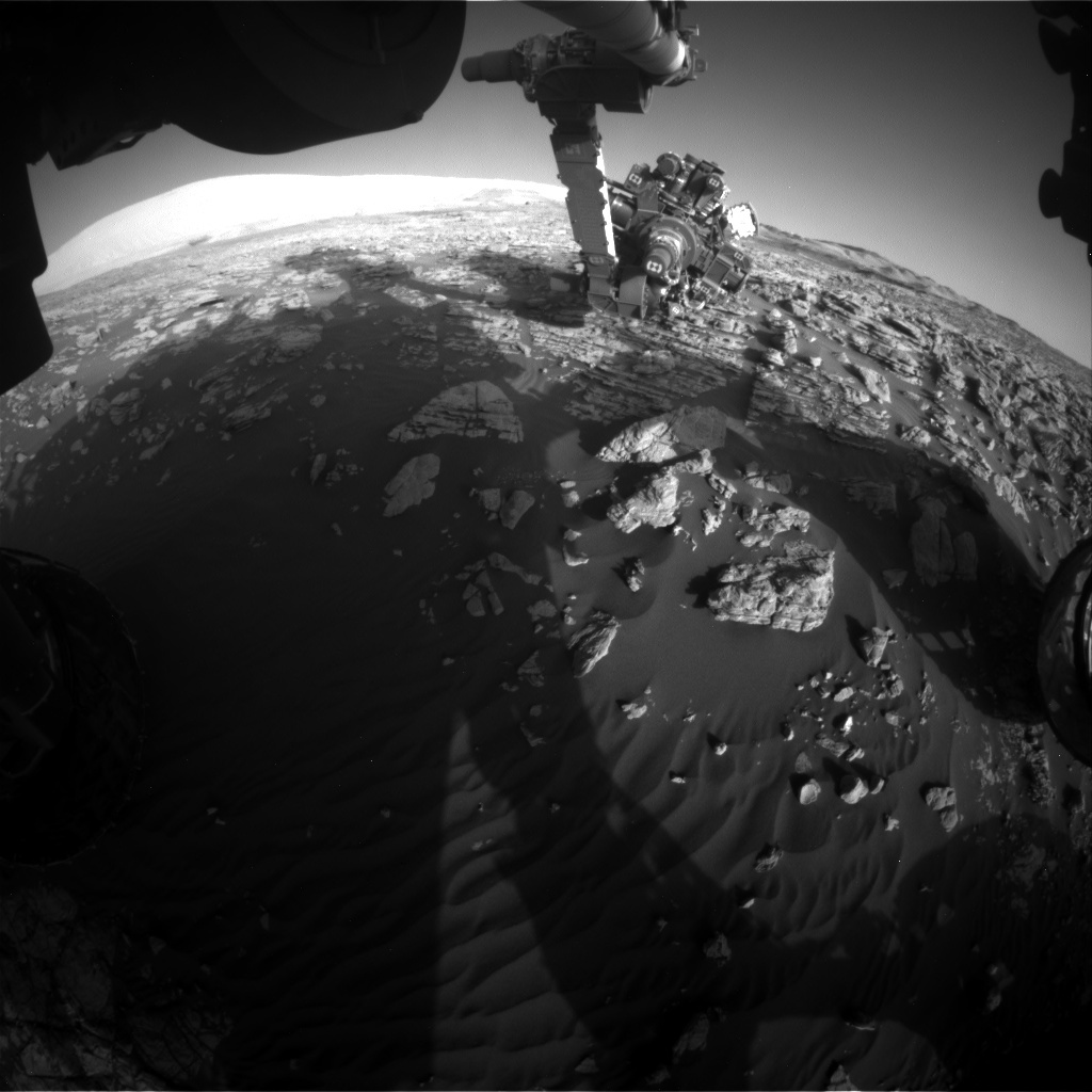 NASA's Mars rover Curiosity acquired this image using its Front Hazard Avoidance Cameras (Front Hazcams) on Sol 1927