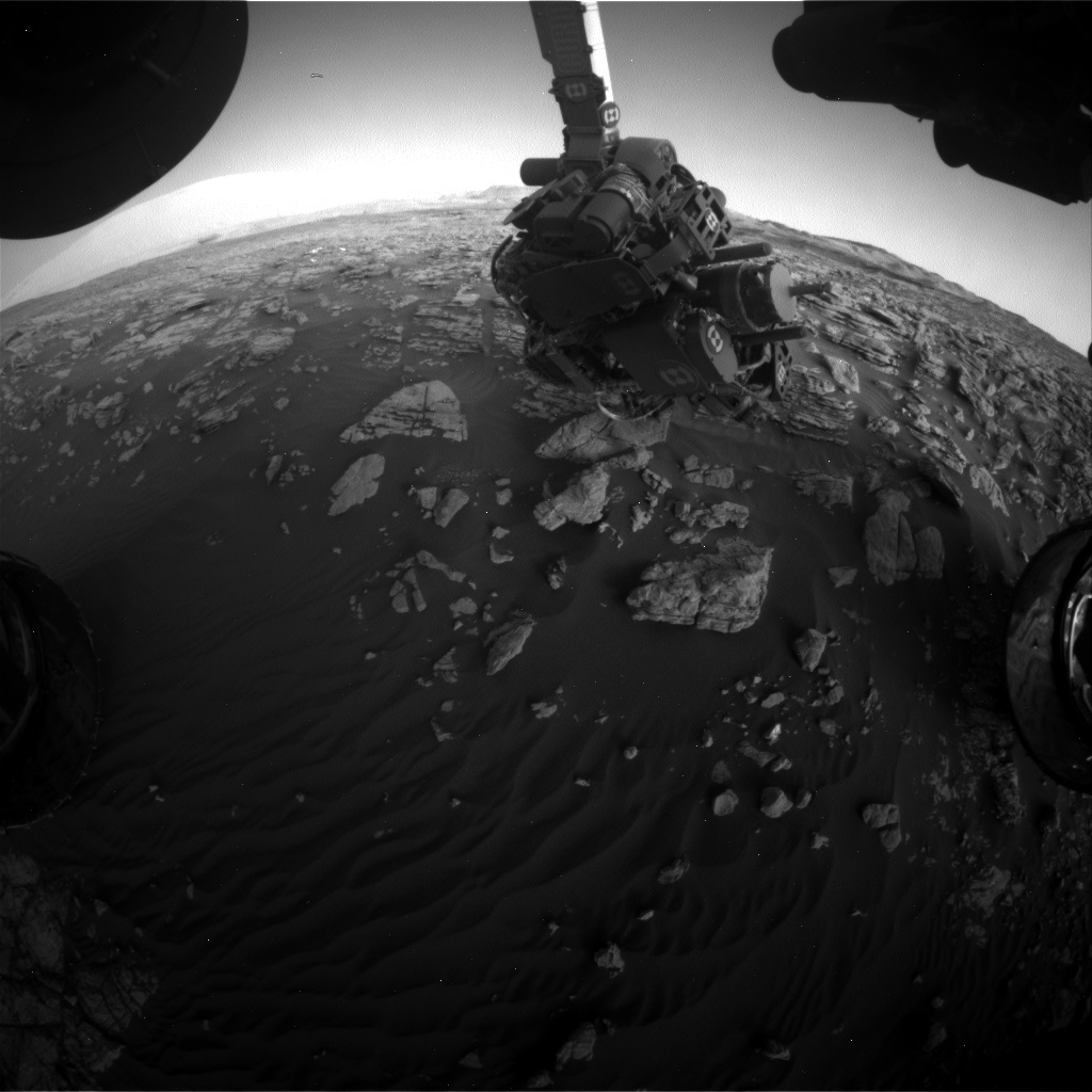 Nasa's Mars rover Curiosity acquired this image using its Front Hazard Avoidance Camera (Front Hazcam) on Sol 1927, at drive 1846, site number 67